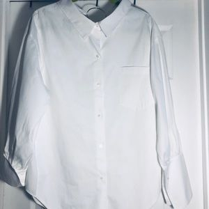 Zara white shirt long sleeve